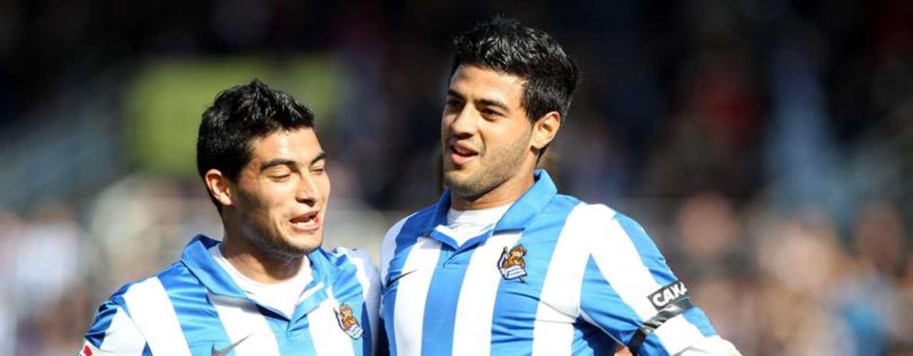 Carlos Vela anotó su décimo gol de la campaña, aunque la Real Sociedad no pudo doblegar al Levante (1-1) en Anoeta.