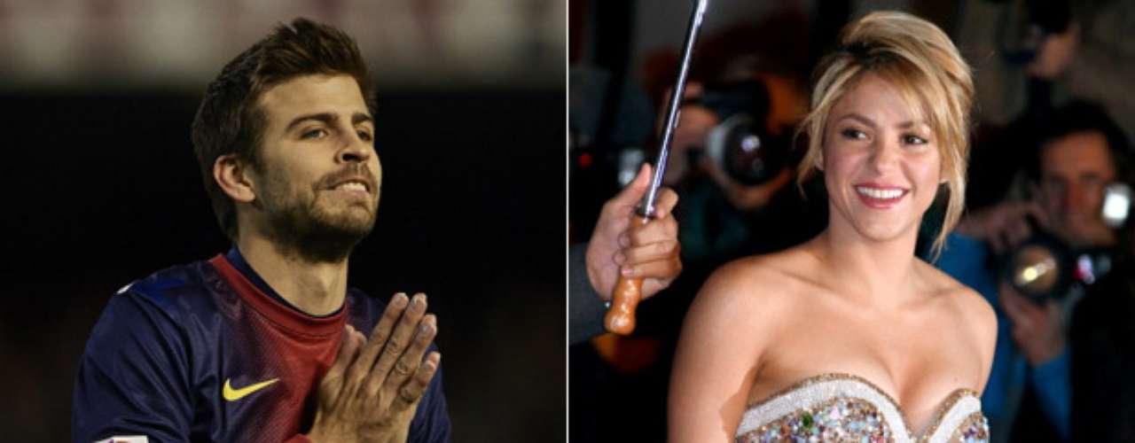 Gerard Piqué y Shakira: Es una de las parejas más mediáticas del momento, el defensa español del Barcelona y la cantante colombiana están juntos desde principios de 2011, y ya son padres, pues su hijo Milan nació el 22 de enero de este año.