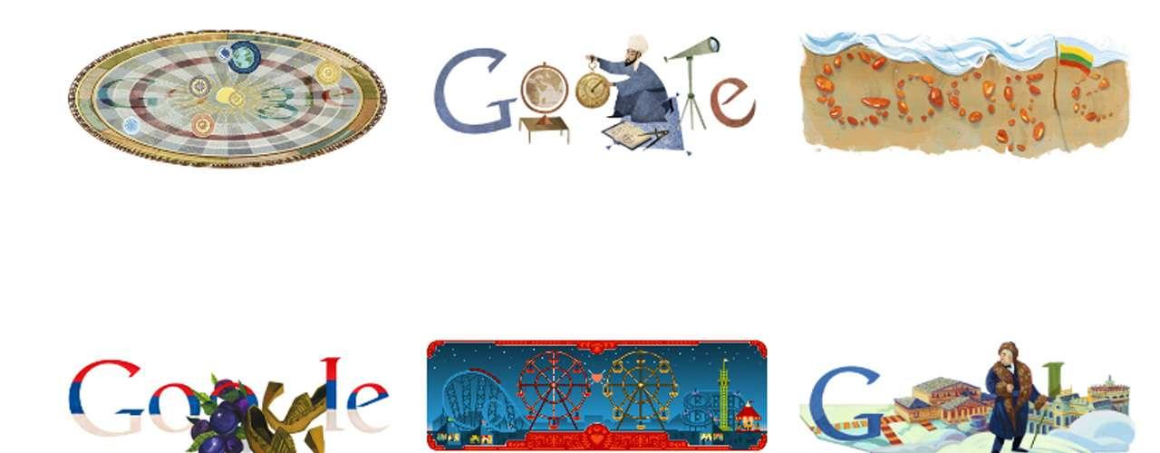 Google ha tenido varios logotipos desde su creación. El logotipo actual fue creado por la diseñadora Kedar Ruth, basado en el tipo de letra Catull. Para celebrar eventos señalados, Google cambia su logo oficial por otro, diferente en cada ocasión y alusivo al respectivo evento, al que denomina doodle. A continuación los doodles de este 2013: