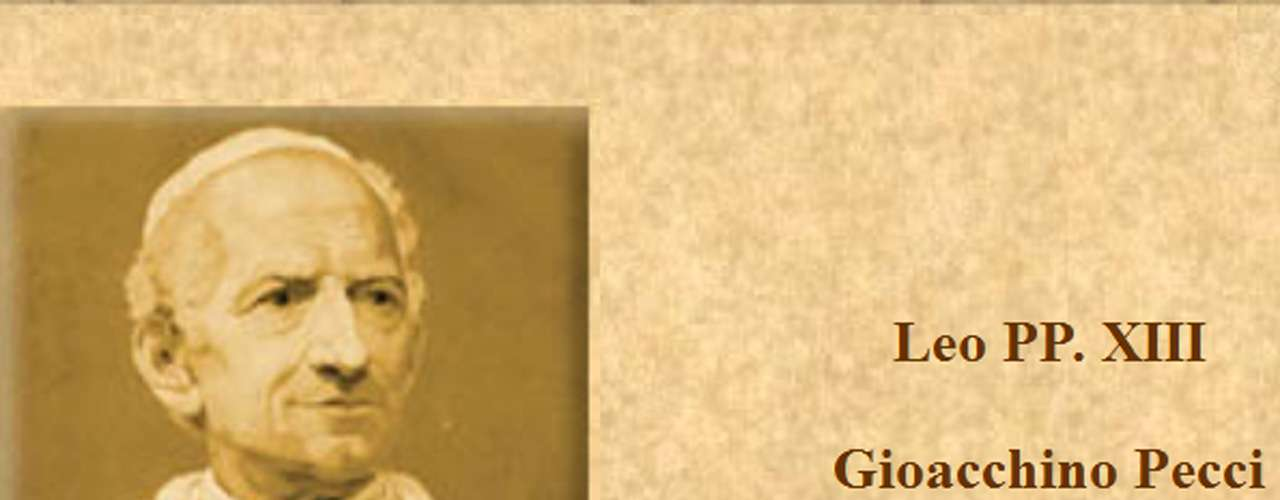 LEÓN XIII (1878-1903). Gioacchino Vincenzo Raffaele Luigi Pecci. Estableció las bases de la enseñanza social católica a través de su encíclica, Rerum Novarum; apoyó la democracia Cristiana frente al comunismo. Se preocupó especialmente por la reconciliación entre la Iglesia y la sociedad civil.