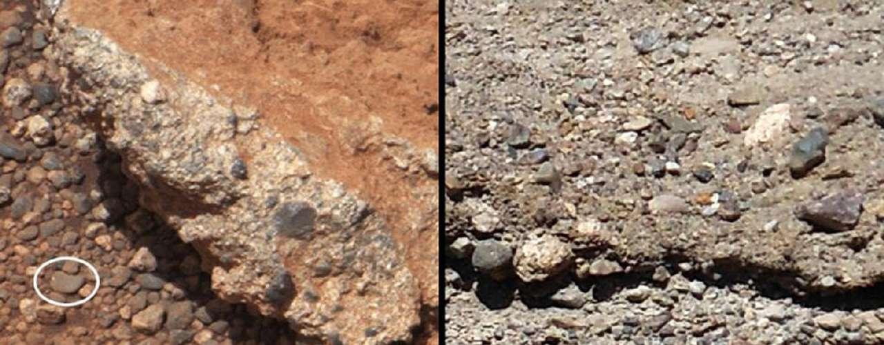 Poco después de posarse en la superficie, la sonda de seis ruedas se dirigió a un sitio donde probó sus herramientas de alta tecnología.