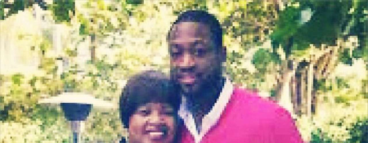 Dwyane Wade tweeted this photo of himself and his mother and grandmother.