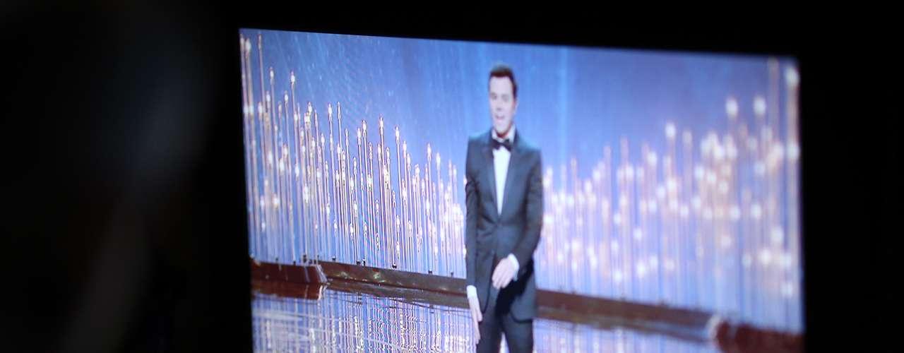 Así se vio en los monitores la presentación de Seth MacFarlane, de la 85 edición de los premios.