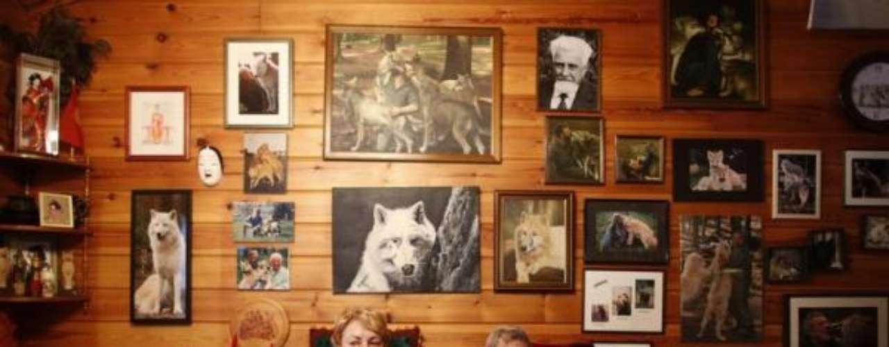 El investigador y su mujer viven en un a casa al lado del Parque de los lobos Werner Freund.