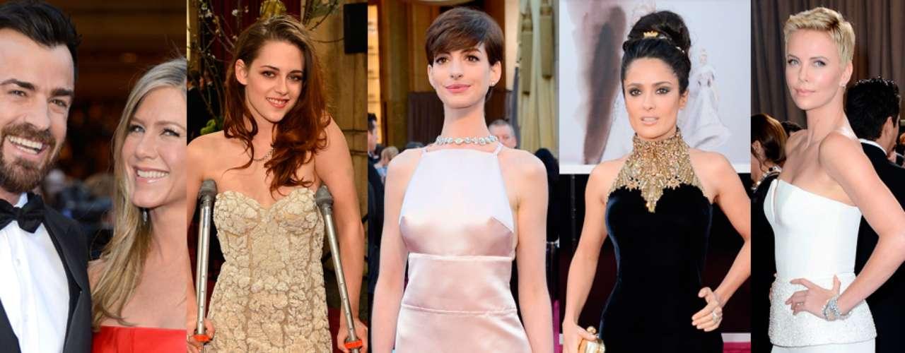 La alfombra roja de los Oscar 2013 estuvo llena de sorpresas. Esta vez Jennifer Aniston confirmó su amor con Justin Theroux, Anne Hathawaylució un vestido que dejaba vermás de lo que quería mostrary la estrella de \