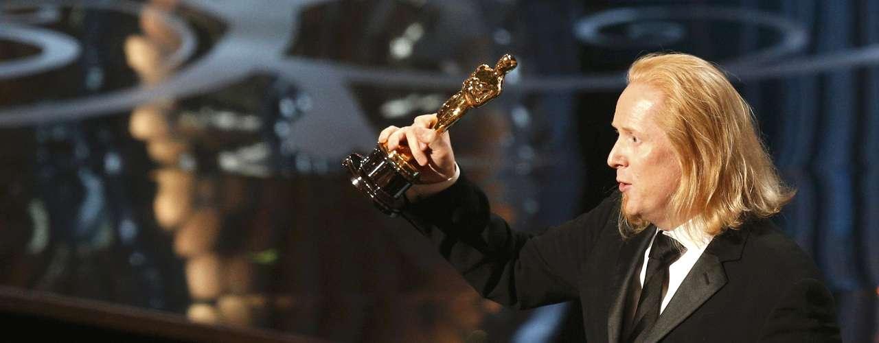 Así de eufórico Claudio Miranda aceptó el premio a la Mejor Fotografía por la película \