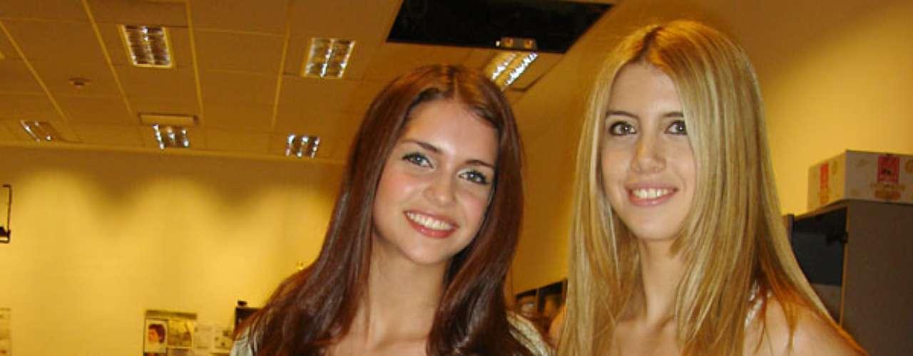 Una morena y otra rubia, así son las hermanas Zayra y Wanda Nara.