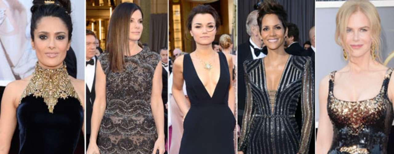 Aunque esta alfombra roja de los Oscar tuvo colores muy variados, nuevamente la sobriedad por excelencia del negro, el color de la elegancia y la sofisticación, se impone. Aquí algunas de las tendencias y personalidades que se unieron a ella, ya que tuvieron diversas formas de lucirlo.
