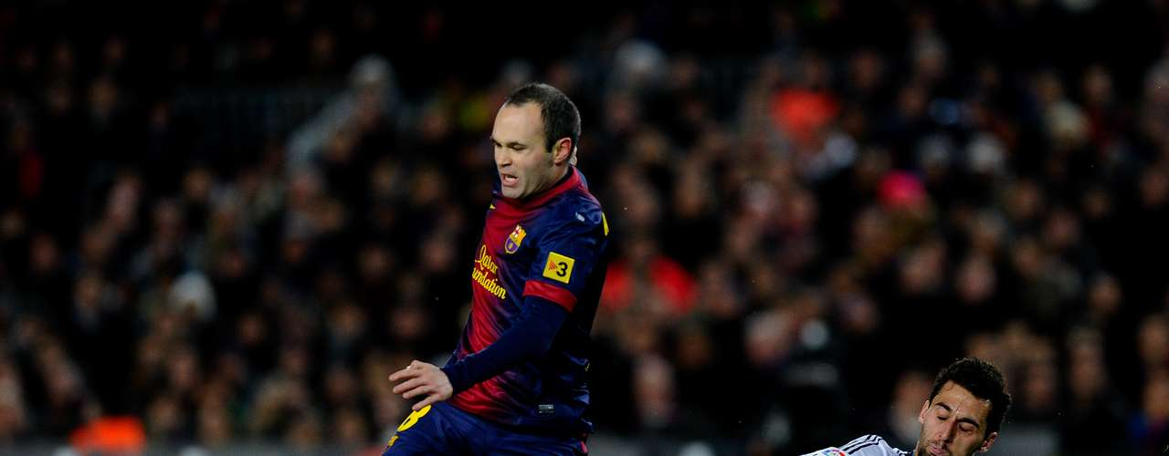 Andres Iniesta was the best player for Barcelona, eluding players throughout the midifeld.