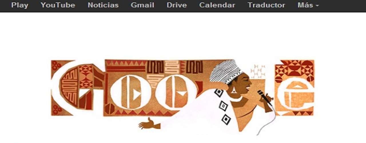 Miriam Makeba se convirtió en ícono de la lucha contra el apartheid o segregación racial africana, por ello a 81 años de su nacimiento Google le rinde homenaje con un Doodle.