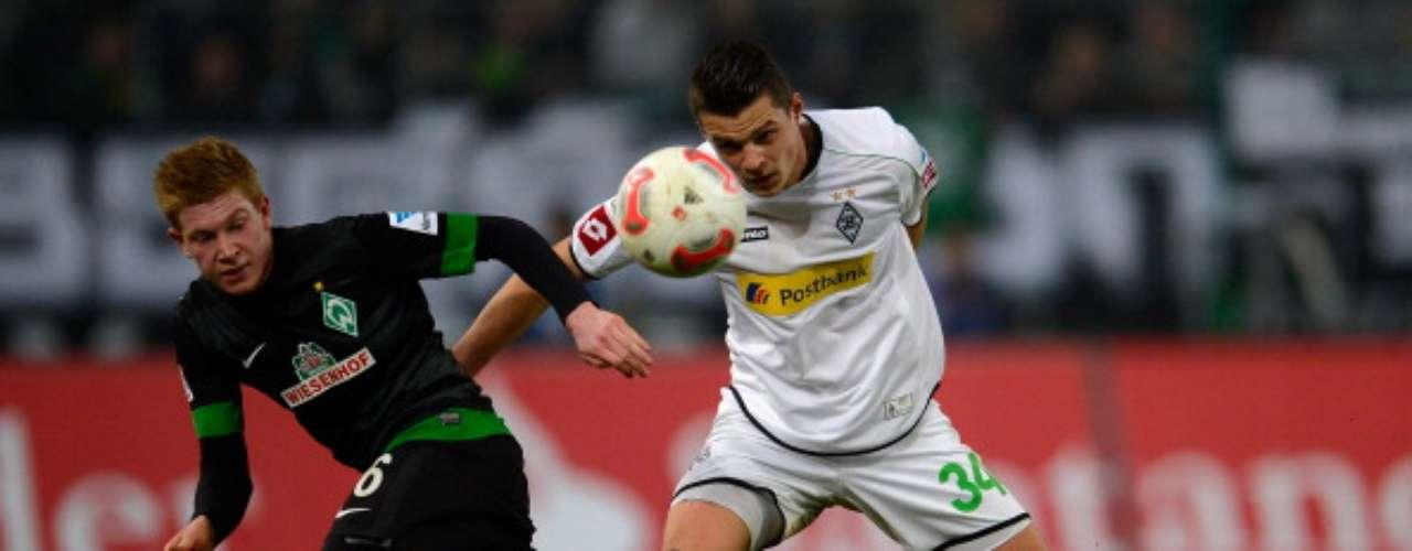 Borussia Mönchengladbach empató 1-1 ante Werder Bremen.