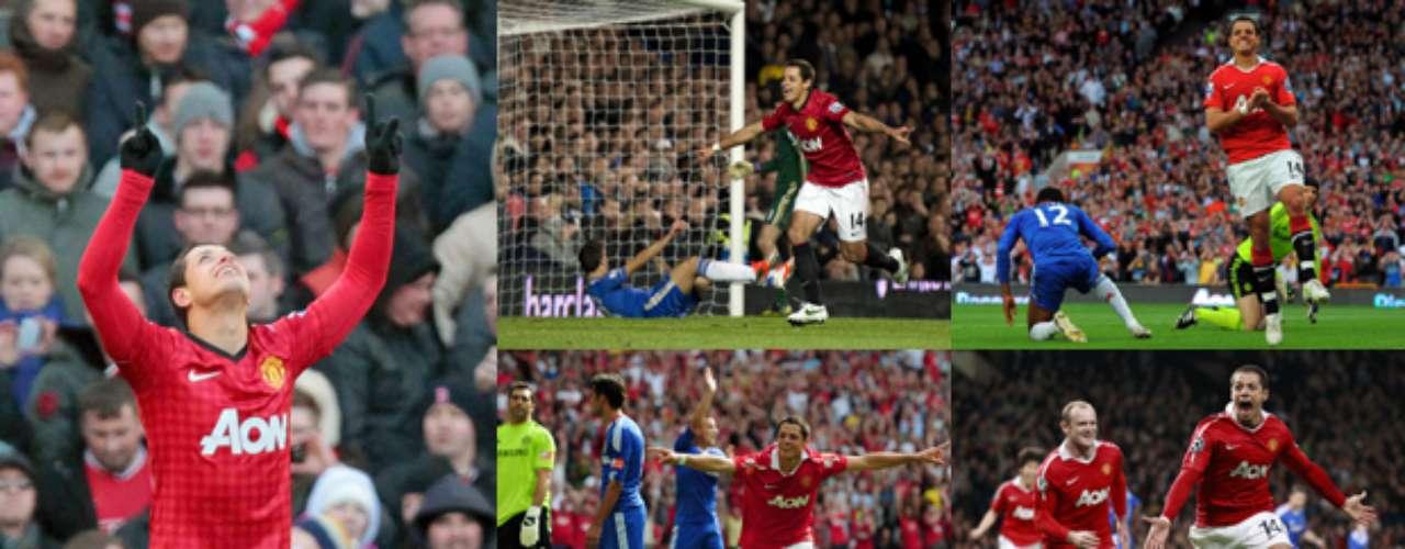 Revive cada uno de los siete goles que el'Chicharito' le ha hecho al Chelsea