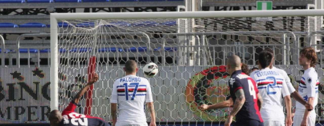 Cagliari superó 3-1 en su campo a la Sampdoria.