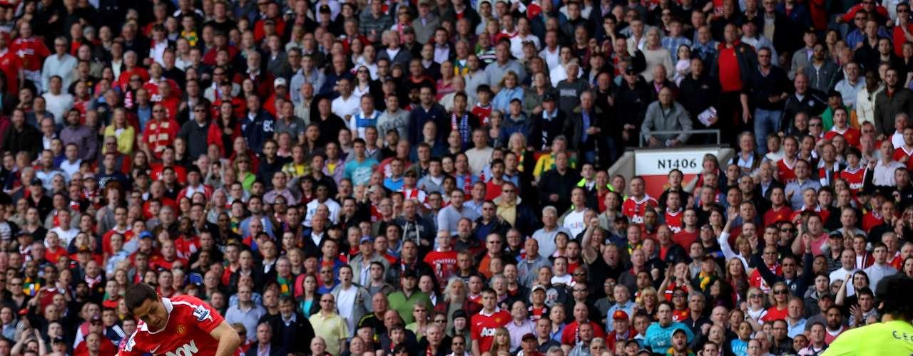 También en Old Trafford hizo el tercero un 8 de mayo de 2011 en duelo de la Premier League