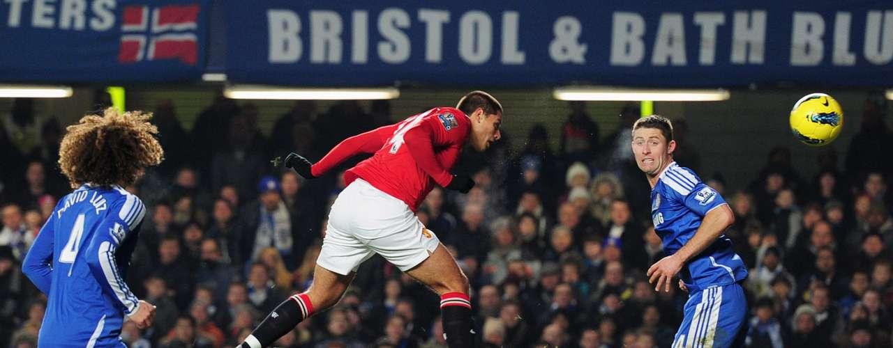 El cuarto también en la Premier el5 de febrero del 2012 en Stamford Bridge, al marcar con un certero cabezazo
