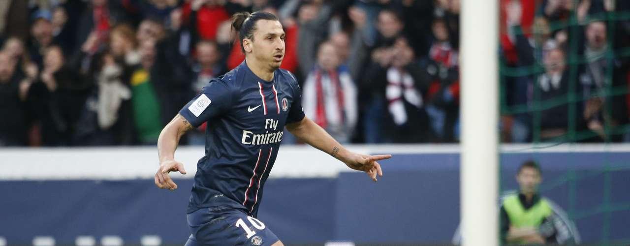 Ligue 1: 1. El primer lugar de la tabla de goleadores de Francia es el delantero sueco del PSG, Zlatan Ibrahimovic, quien lleva 24 goles esta temporada. Este fin de semana anotó los dos tantos en la victoria 2-1 sobre el Nancy.