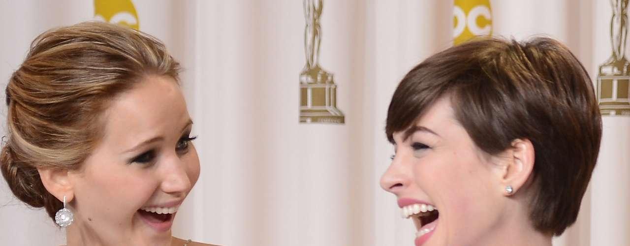 Anne Hathaway y Jennifer Lawrence son las más opcionadas para llevarse el galardón en la categoría a Mejor Actriz.