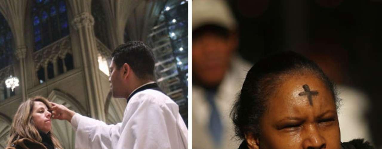Aunque el Miércoles de Ceniza es común ver en las calles y oficinas de EE.UU. a católicos con una cruz trazada con cenizas en su frente es muy baja la proporción de cristianos que se atienen a las normas dietéticas de la Cuaresma.