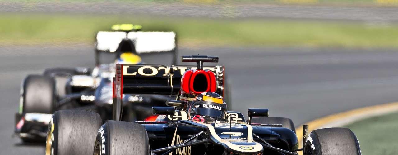 Kimi Raikkonen llevó a su Lotus al cuarto mejor tiempo del día.