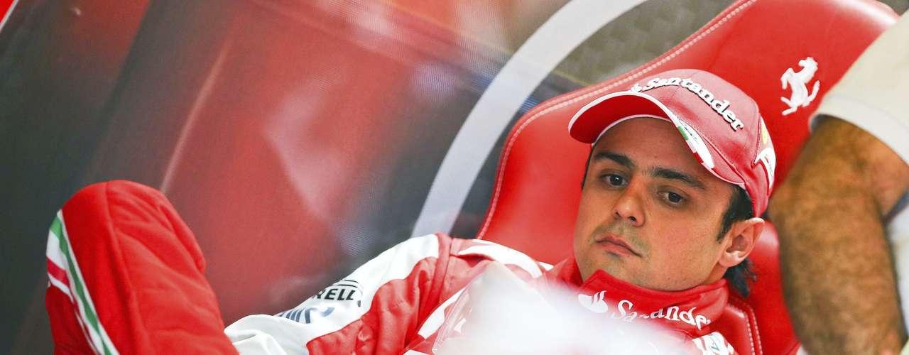 Massa fue segundo en los primeros ensayos, pero luego no pudo mantener el ritmo.