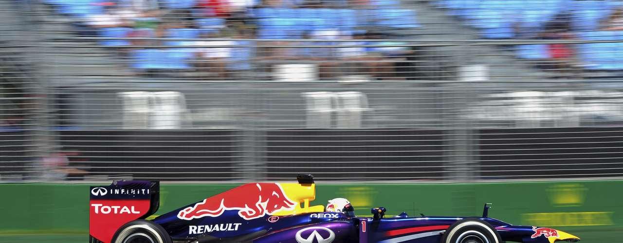 El tricampeón Sebastian Vettel, de Red Bull, abrió la temporada 2013 de Fórmula 1 con el mejor tempo de este viernes en los dos primeros ensayos libres del GP de Australia.