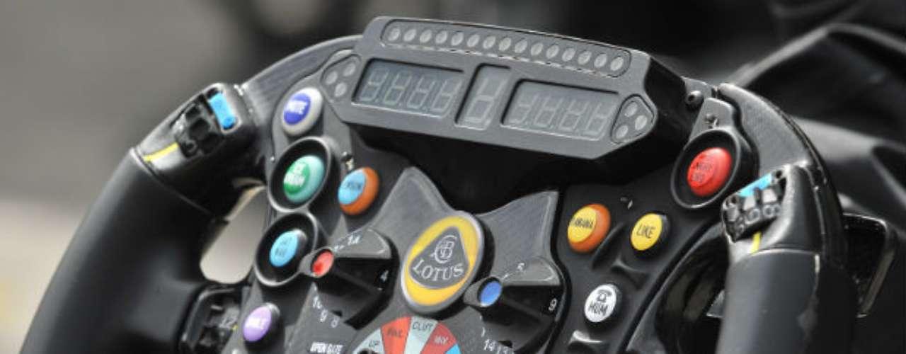 Así se ve un volante de Fórmula 1 en la presente temporada.