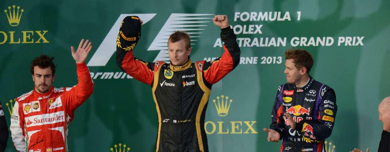Kimi Raikkonen obtuvo su segundo GP desde su regreso a la F1 con Lotus y su vigésima bandera a cuadros en su carrera.