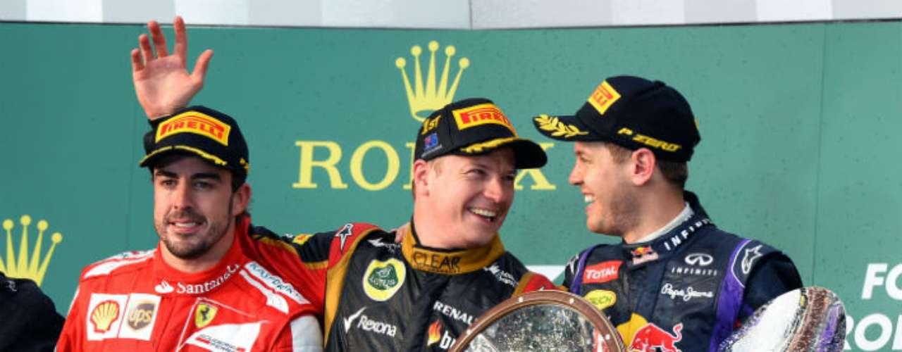 El podio de Australia, el primero del año que presagia una gran temporada de F1 en 2013.
