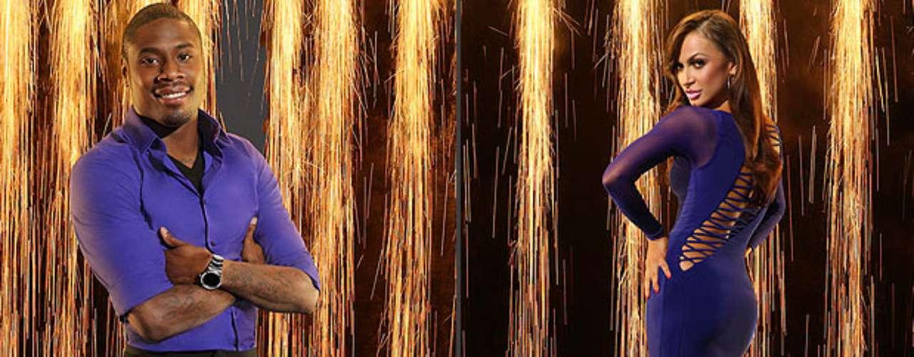 Jacoby Jones y Karina Smirnoff. El jugador de fútbol americano quiere ponerse a la altura de Karina, quien se robó el corazón de todos cuando bailó con Mario López y quedó en segundo lugar, su primer premio llegó siendo pareja de J.R. Martinez.
