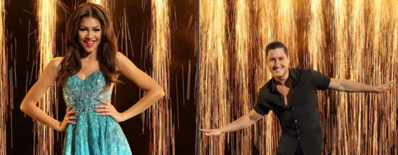 Zendaya y Val Chmerkovskiy. Para la actriz y cantante de Disney, el baile no es algo nuevo. Val Chmerkovskiy será el encargado de ponerla a tono con los ritmos de la competencia tal y como lo hizo con Elisabetta Canalis.