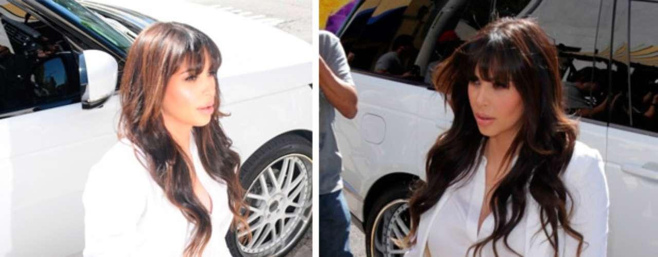 Kim Kardashian estrena look y lo presume rumbo a ''Bel Bambini' Por una u otra razón siempre en el foco de las cámaras.