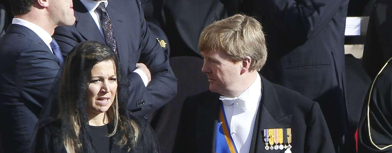 Los futuros reyes de Holanda compartieron impresiones con los príncipes de Asturias.