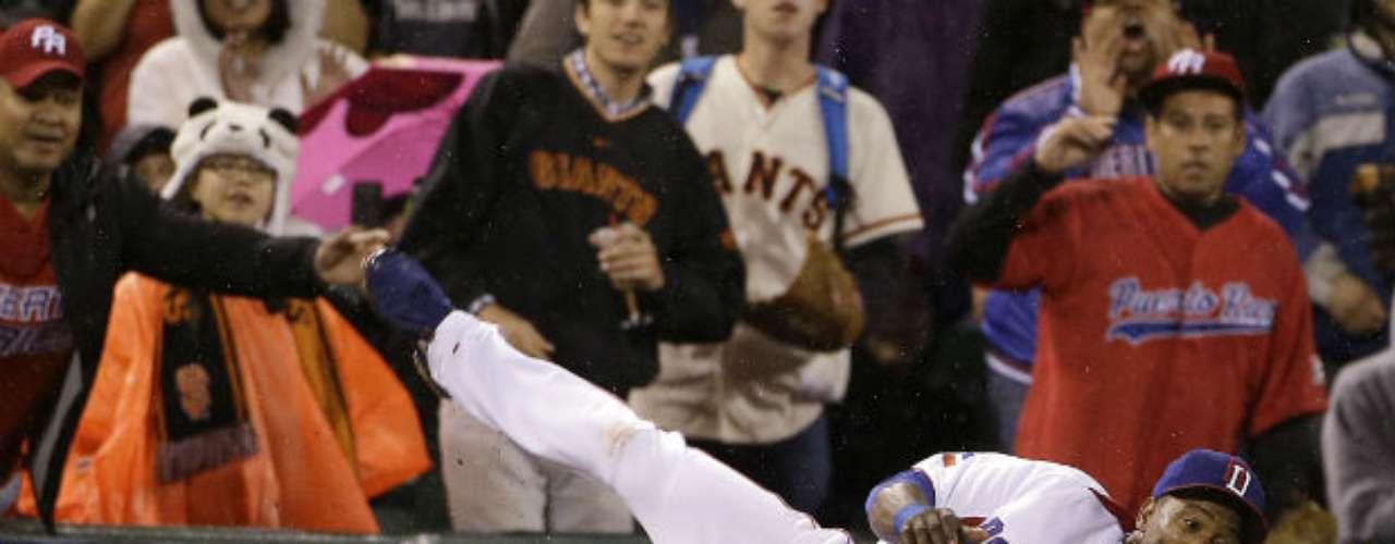 Miguel Tejada logró una gran atrapada en el octavo inning.