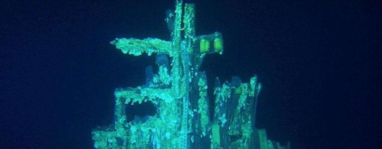 Los motores serán restaurados y expuestos públicamente. En la imagen, los restos en el fondo del mar.