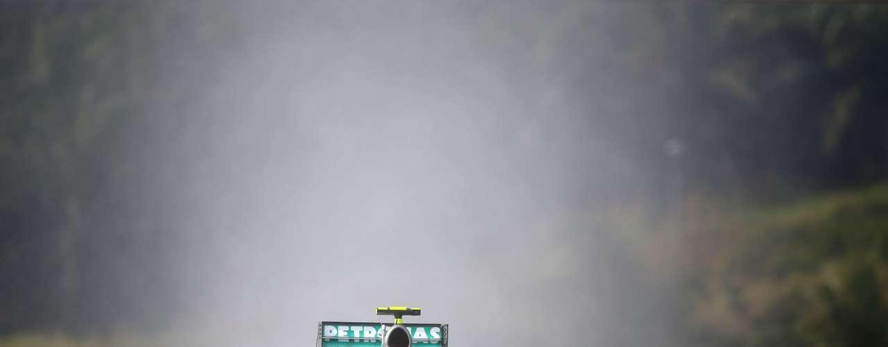Nico Rosberg hizo su mejor esfuerzo.