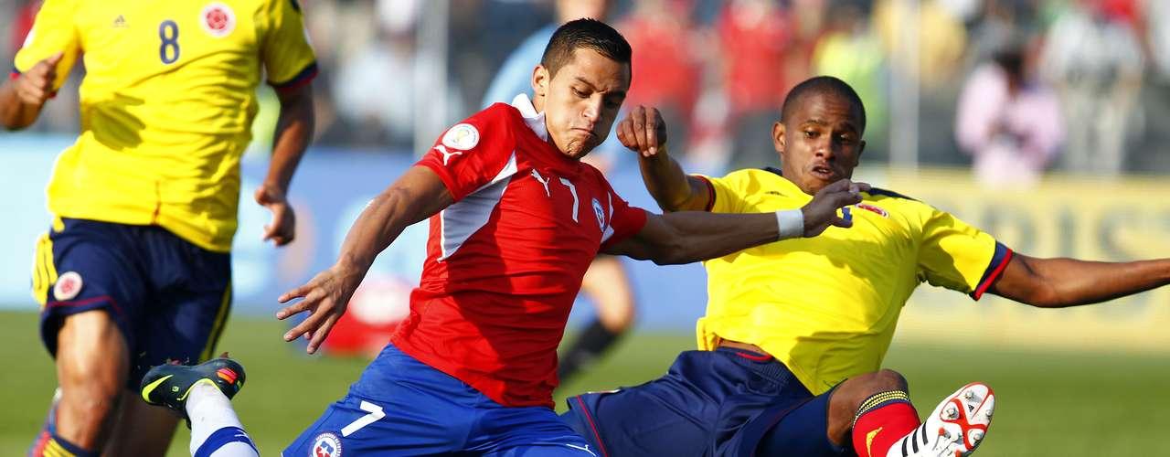 FECHA 17, COLOMBIA vs CHILE el 11de octubre.