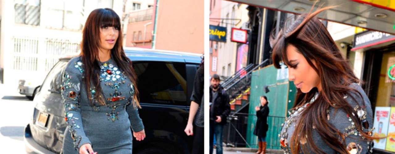 Durante un evento de moda en Nueva York aprovechó para ver qué estilo le venía mejor durante el embarazo.