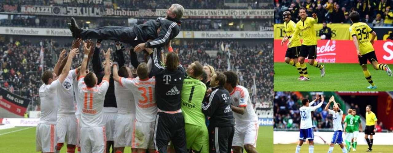 Tras un par de campañas en las que Borussia Dortmund fue Campeón de la Bundesliga, por fin el Bayern Múnich logró llevarse el título cuando todavía faltan seis jornadas para que termine el campeonato. Y es que con sus 75 puntos, le sacó 20 de ventaja al Dortmund cuando restan 18 unidades por jugarse. Los bávaros lograron el título número 23 de sus vitrinas.