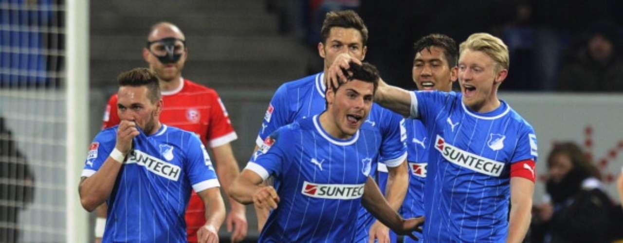 Hoffenheim está en zona de descenso, por lo que respiró tras la goleada de 3-0 sobre Fortuna Düsseldorf.