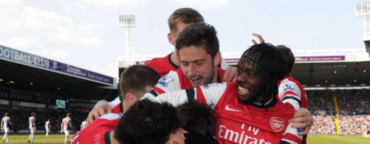 Arsenal hizo un gran partido y en calidad de visitante venció 2-1 aWest Bromwich, por lo que los Gunners ya son quintos generales y amenazan los puestos de Champions.