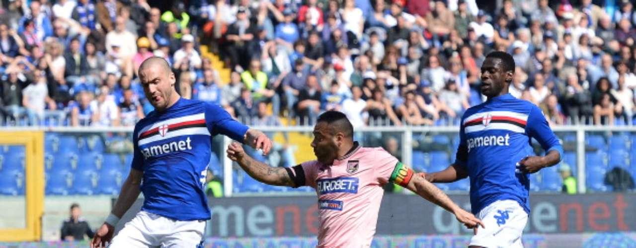Palermo 'sorprendió' en Génova a la Sampdoria y la derrotó 3-1.