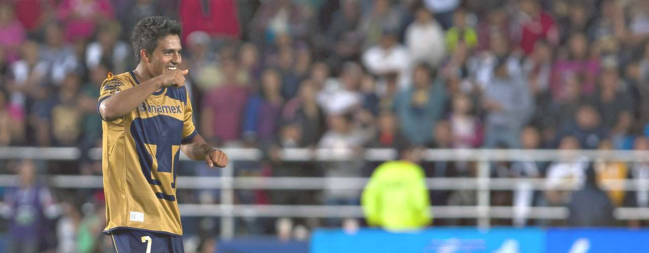Volante ofensivo - Javier Cortés - Pumas. El canterano universitario anotó el gol de la victoria ante Pachuca