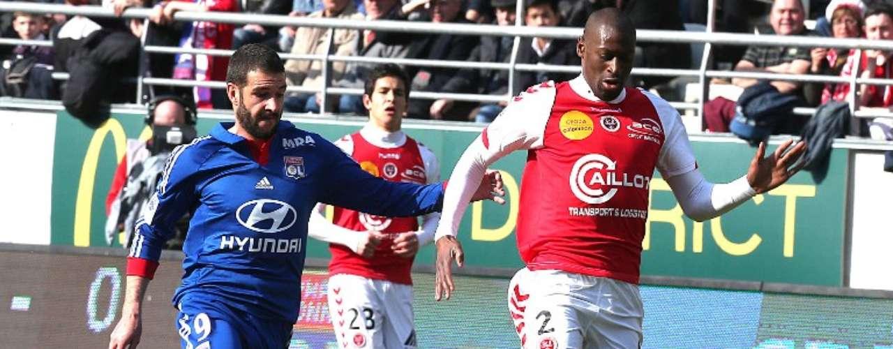Olympique de Lyon perdió 1-0 con Stade de Reims y bajó al cuarto sitio de la Ligue 1.