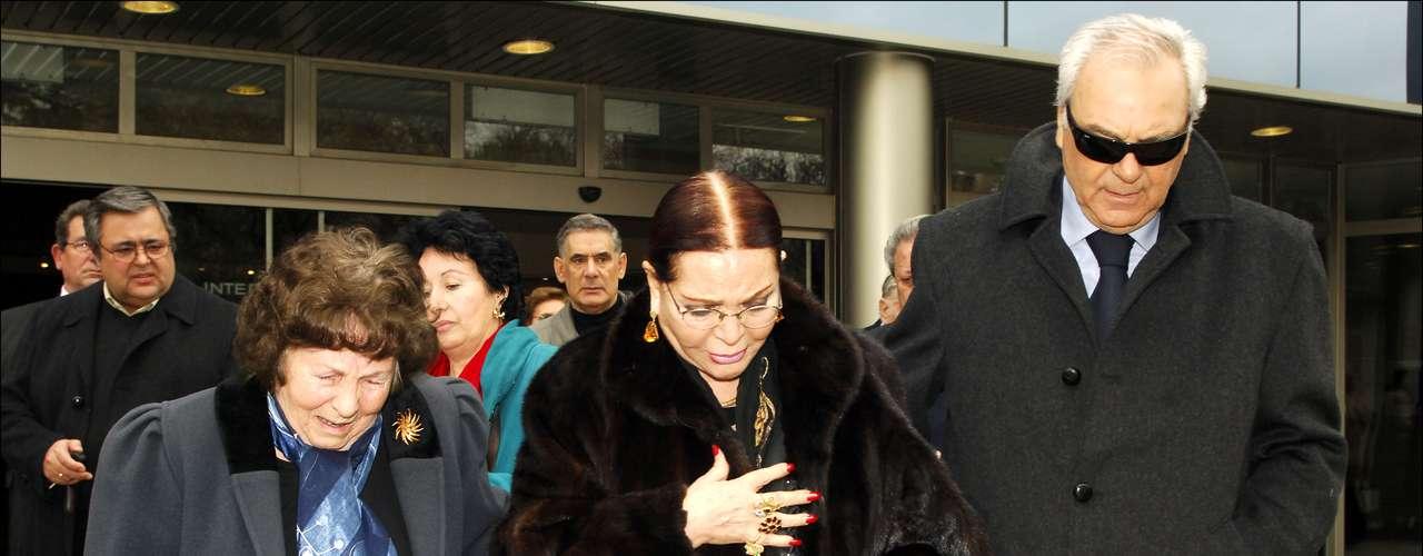 En 2006, en el entierro de Elpidia Abad Fernández.