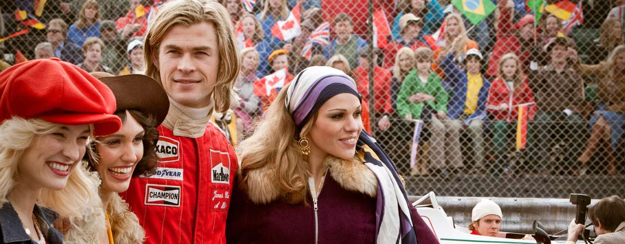 Rush (2013). Es una película de acción estadounidense, dirigida por Ron Howard, escrita por Peter Morgan y protagonizada por Chris Hemsworth.