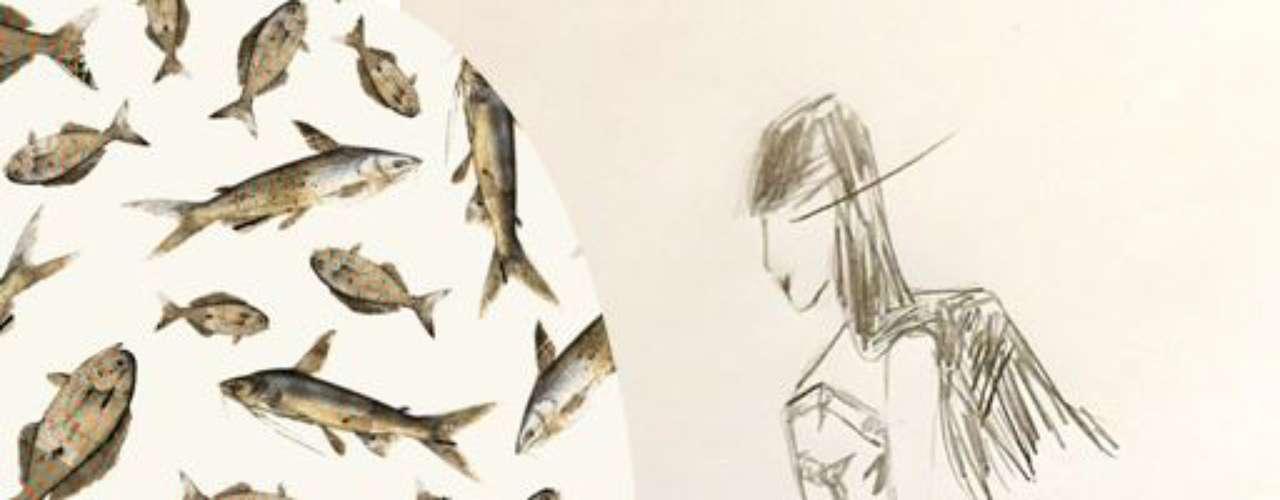 Nica Kessler: los colores y estampados vienen de los tonos de los mares tropicales. Los grabados están firmados por el artista plástico Gabriel Castro y traen impresiones de piel de pescado y escamas.