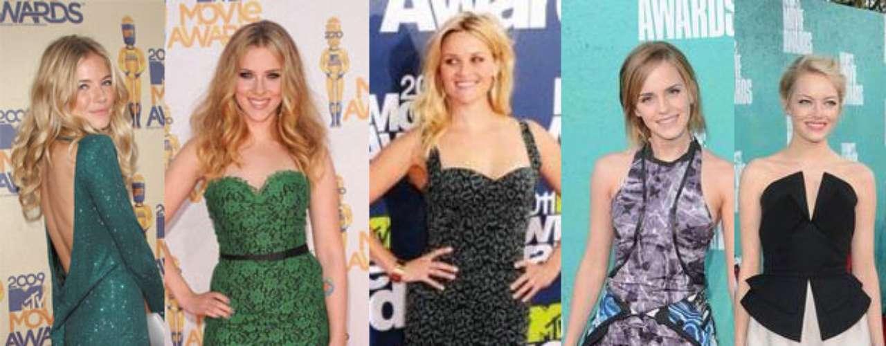 Ellas son solo algunas famosas, célebres también por dejar su huella de estilo sobre la alfombra roja de los MTV Movie Awards, que con sus atuendos innovaron y crearon tendencias. Aquí las más destacadas.