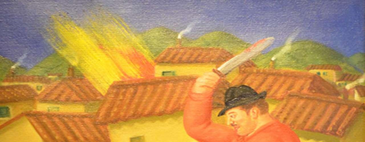 El museo Cuartel del Arte de la ciudad de Pachuca, México exhibe \
