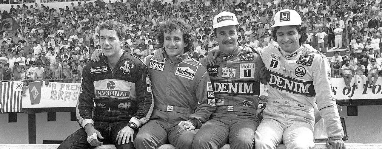 La rivalidad entre Nelson Piquet y Nigel Mansell entre 1986 y 1987 en la escudería Williams, regaló momentos increíbles, como el rebase de Mansell en Silverstone. Ambos pilotos pelarían por el título al final de 1986, pero fue tal su lucha, que a la postre la corona la tomaría Alain Prost en su McLaren. En 1987, Piquet se coronó por sobre Mansell y por sobre Williams, donde tenían preferencia por el británico.