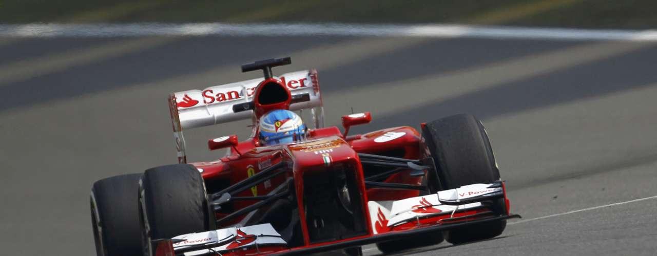 Fernando Alonso tuvo una vuelta rápida en Shanghái, pero cometió un pequeño error y terminó en el tercer sitio.